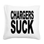 chargerssuck.png Square Canvas Pillow