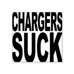 chargerssuck.png Square Sticker 3