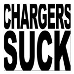 chargerssuck.png Square Car Magnet 3