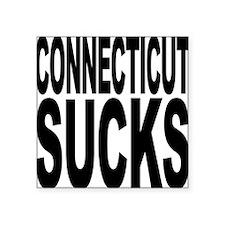 """connecticutsucks.png Square Sticker 3"""" x 3"""""""