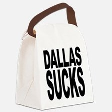 dallassucksblk.png Canvas Lunch Bag
