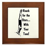Gymnastics Framed Tile - Stars