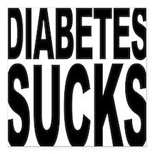 "diabetessucks.png Square Car Magnet 3"" x 3"""