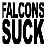 falconssuck.png Square Car Magnet 3