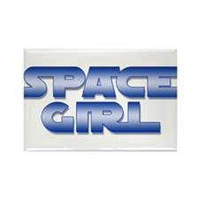 Space Girl Rectangle Magnet