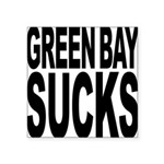 greenbaysucksblk.png Square Sticker 3