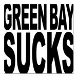 greenbaysucksblk.png Square Car Magnet 3