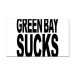 greenbaysucksblk.png Rectangle Car Magnet
