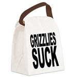 grizzliessuck.png Canvas Lunch Bag