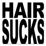 hairsucks.png Square Car Magnet 3