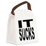 itsucksblk.png Canvas Lunch Bag