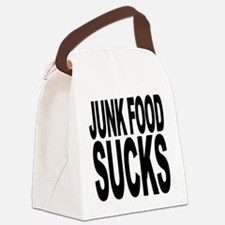 junkfoodsucks.png Canvas Lunch Bag