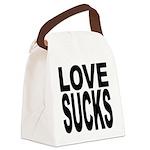 lovesucksblk.png Canvas Lunch Bag