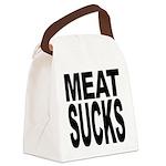 meatsucks.png Canvas Lunch Bag