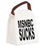 msnbcsucksblk.png Canvas Lunch Bag
