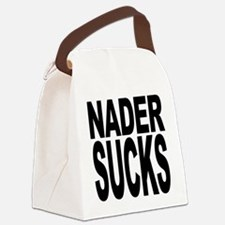 nadersucks.png Canvas Lunch Bag