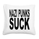 nazipunkssuck.png Square Canvas Pillow