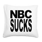 nbcsucksblk.png Square Canvas Pillow