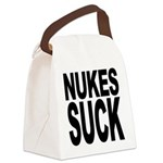 nukessuck.png Canvas Lunch Bag