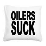 oilerssuck.png Square Canvas Pillow