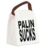 palinsucksblk.png Canvas Lunch Bag