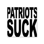 patriotssuckbk.png Square Sticker 3