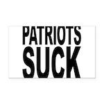 patriotssuckbk.png Rectangle Car Magnet