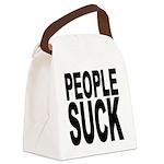 peoplesuckblk.png Canvas Lunch Bag