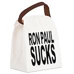 ronpaulsucksblk.png Canvas Lunch Bag