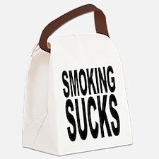 smokingsucksblk.png Canvas Lunch Bag