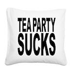 teapartysucks.png Square Canvas Pillow