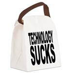 technologysucks.png Canvas Lunch Bag