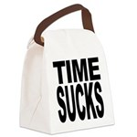 timesucks.png Canvas Lunch Bag