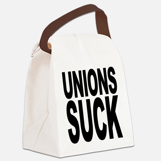 unionssuck.png Canvas Lunch Bag