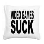videogamessuck.png Square Canvas Pillow
