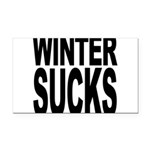 wintersucksblk.png Rectangle Car Magnet