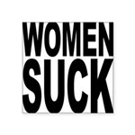 womensuckblk.png Square Sticker 3