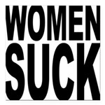 womensuckblk.png Square Car Magnet 3
