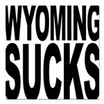 wyomingsucks.png Square Car Magnet 3