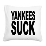 yankeessuckblk.png Square Canvas Pillow