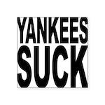 yankeessuckblk.png Square Sticker 3