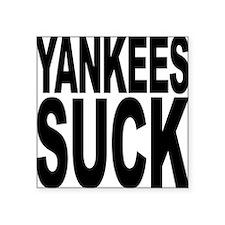 """yankeessuckblk.png Square Sticker 3"""" x 3"""""""