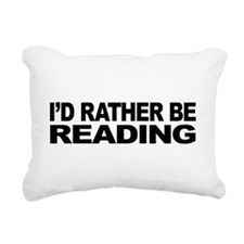 mssidratherbereading.png Rectangular Canvas Pillow