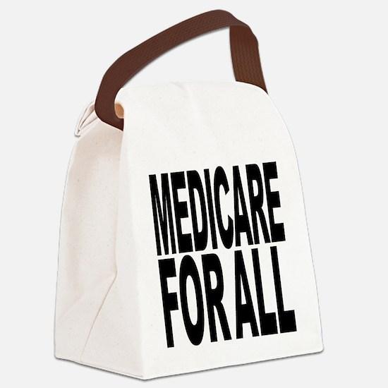 medicareforallblk.png Canvas Lunch Bag