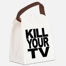 killyourtvblk.png Canvas Lunch Bag
