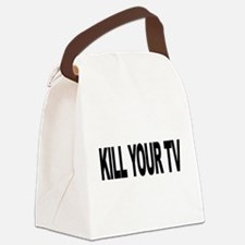 killyourtvlong.png Canvas Lunch Bag