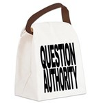 questionauthorityblockblk.png Canvas Lunch Bag