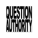questionauthorityblockblk.png Square Sticker 3
