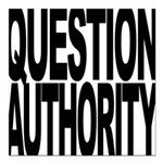 questionauthorityblockblk.png Square Car Magnet 3