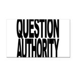 questionauthorityblockblk.png Rectangle Car Magnet